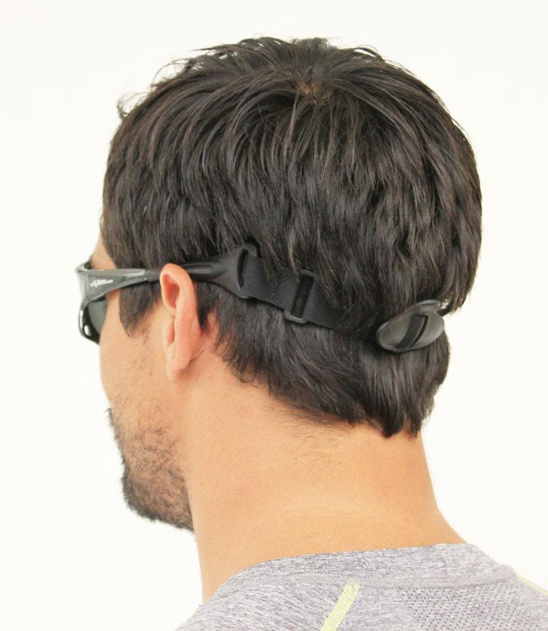 Adjustable strap. Water sports sunglasses